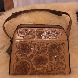 Detailed leather purse